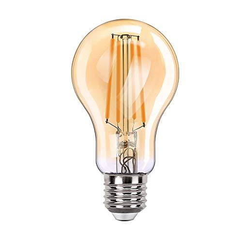 Orbecco WLAN Smart LED Glühbirne, E27 7.5W A60 Filament Retro Edison Glühlampe, Dimmbar Glühfaden mit 2700K Warmweiß Licht, APP/Sprach Fernbedienung Kompatibel mit Alexa Google Home - 1 Pack