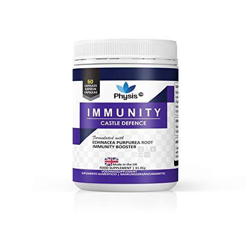 Physis Immune Booster Supplement | 60 Capsules | Immune Support Complex Fortified with Echinacea, Lemon Balm & Monolaurin | Immune System Booster with Vitamins for an Excellent Immune System | Vegan
