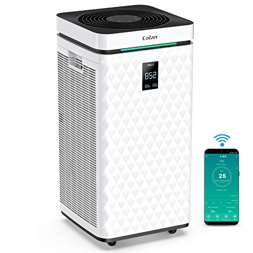 COLZER Air Purifier with True HEPA Air Filter,...