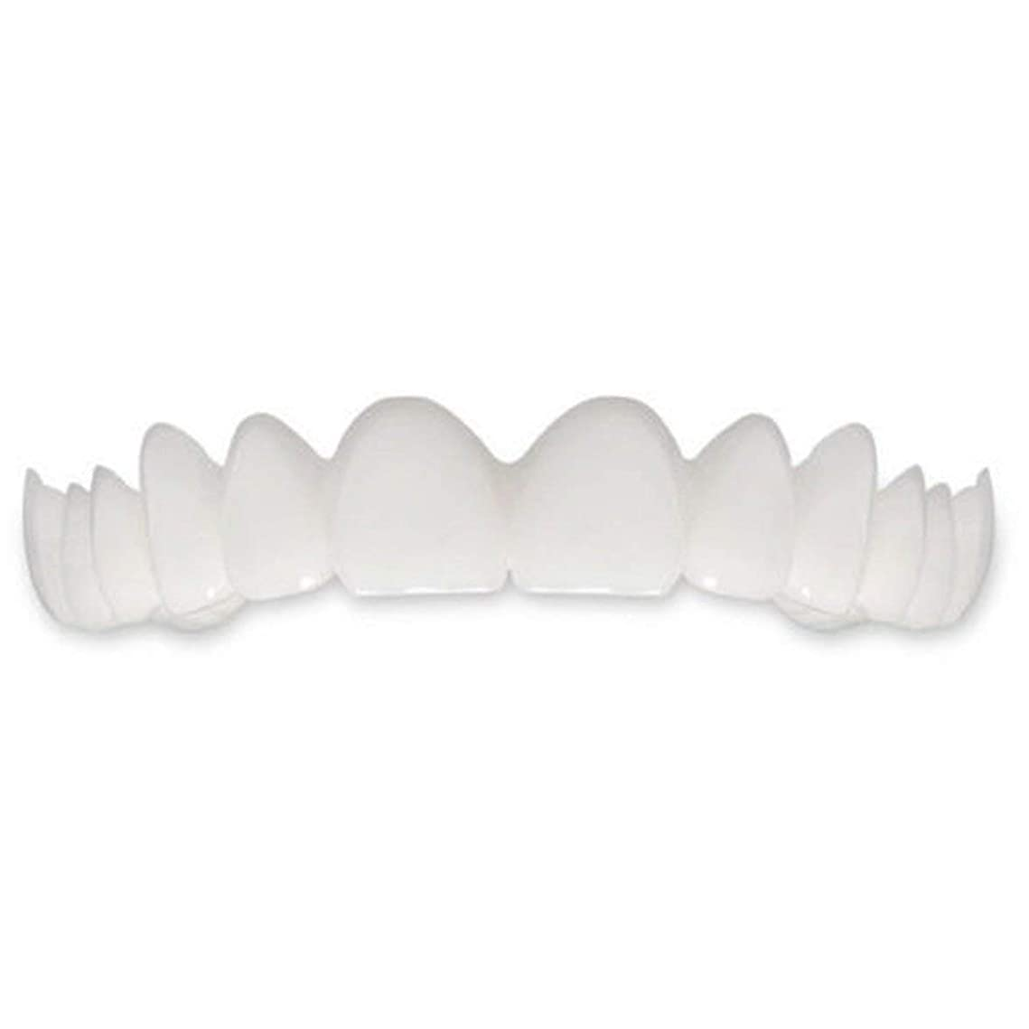 信じられない謎文明化するTooth Instant Perfect Smile Flex Teeth Whitening Smile False Teeth Cover-ホワイト