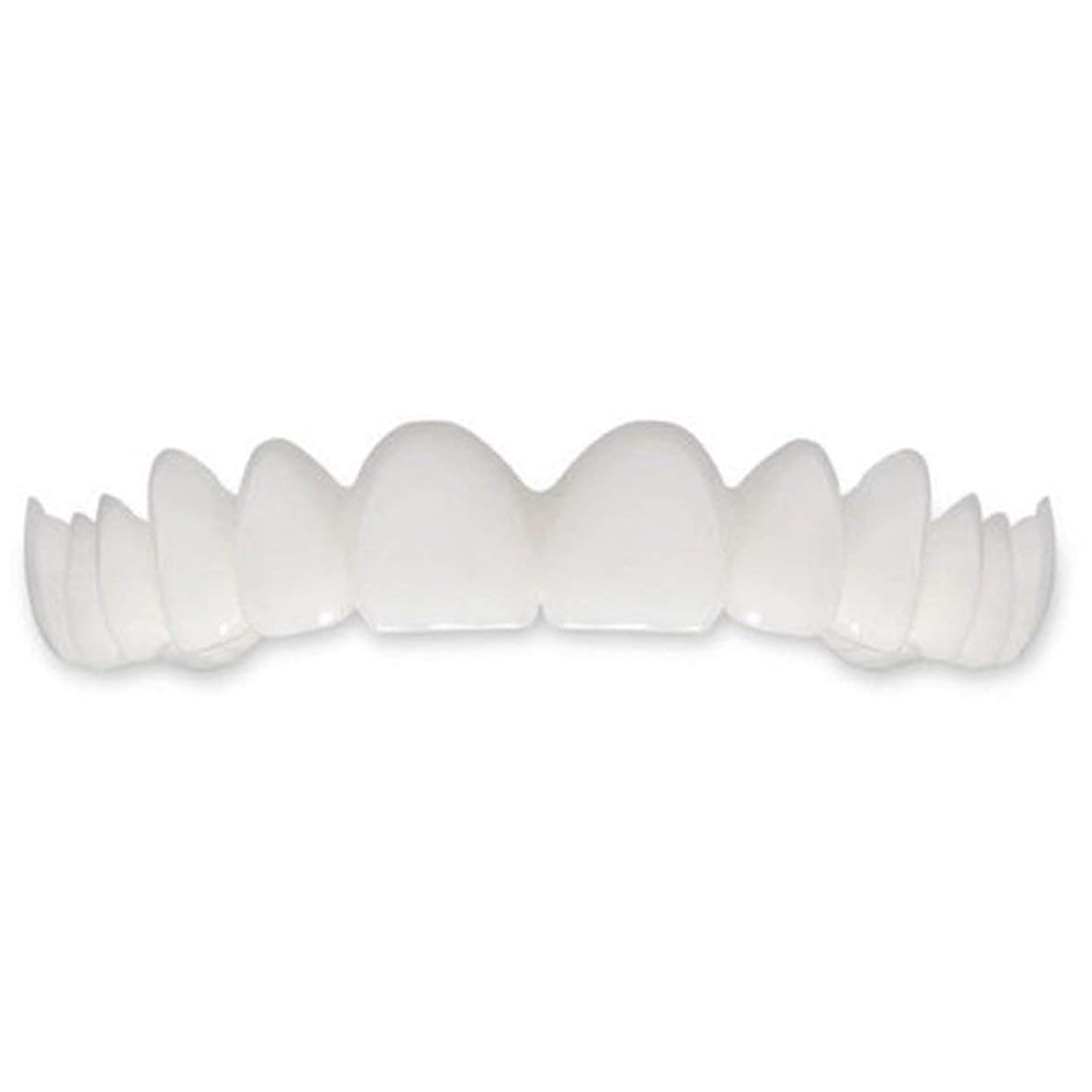 造船テザーくるくるTooth Instant Perfect Smile Flex Teeth Whitening Smile False Teeth Cover-ホワイト