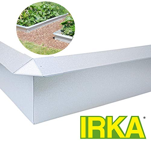 IRKA Schneckenzaun Set 10 x Schneckenblech 4 x Ecken - doppelt korrosionsbeständig durch Alu-Legierung