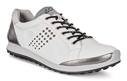 ECCO Men's Biom Hybrid 2 Hydromax Golf Shoe, White/Black, 10 M US