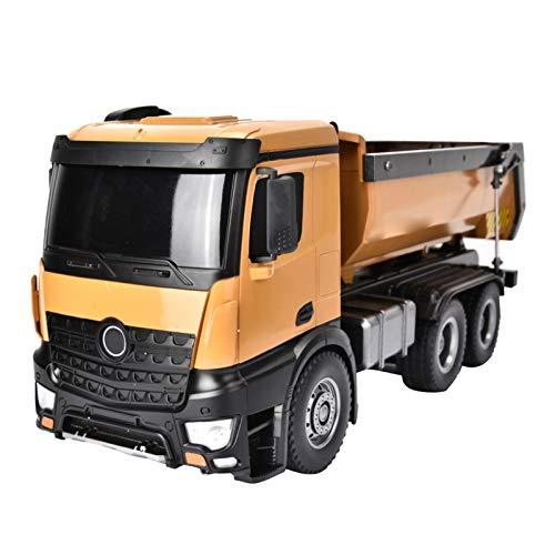 Offroad Engineering Car 1:14 RC Truck 10-CH Ferngesteuerter Kipplaster Ferngesteuerte Trucks Modell Spielzeug mit Akku für Erwachsene