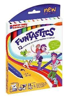 edding 4-18-6 Funtastics Schminkstift, 15, farblich sortiert, 12 Stück