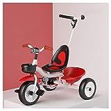 TQJ Cochecito de Bebe Ligero Niños Meter Triciclo, Triciclo Multifuncional niños con la iluminación, Regalo Seguro for 1-5 Años de Edad (Color : 11)