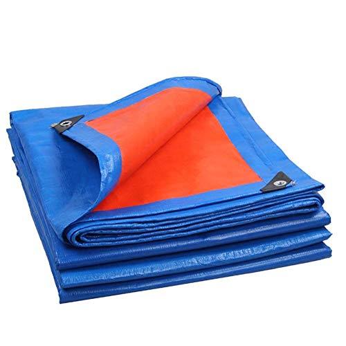 IDWOI-tarpaulin PE Canvas Heavy Duty Blue+Orange Roof Covering Outdoor Waterproof Tarp Sheet For Outdoor Canopy Balcony Trucks (Size : 1.8M X 3.8M)