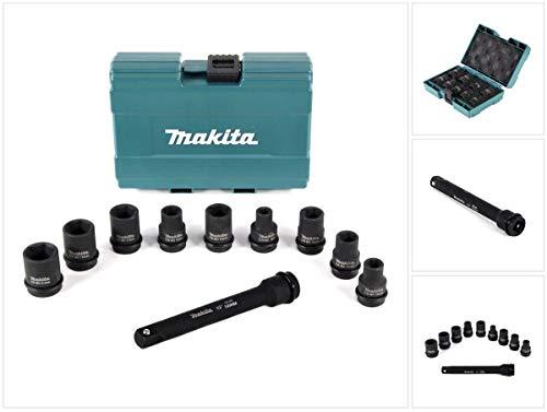 Makita dopsleutel moerset 1/2' 9-delig + 1/2 inch verlenging voor slagmoeren 150 mm.