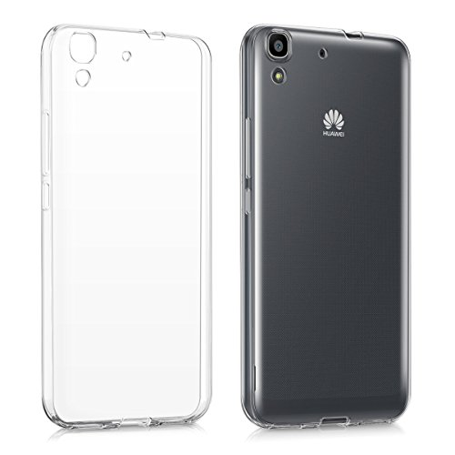 kwmobile Cover Compatibile con Huawei Y6 (2015) - Custodia in Silicone TPU - Back Case Protezione Posteriore - Trasparente