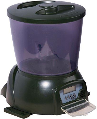 dobar 25001 - Alimentador de Pescado programable con Pantalla LCD para Exterior, 22 x 22,5 x 26.5 cm, Color Verde