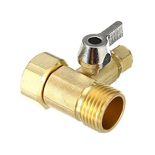 1/2 '' a 1/4 '' latón RO alimentación agua adaptador bola válvula grifo para purificador de agua hogar grifo