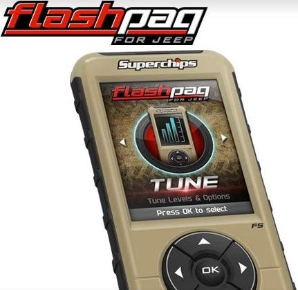 NEW SUPERCHIPS FLASHPAQ F5 IN-CAB TUNER,COMPATIBLE WITH 1999-2014 JEEP WRANGLER