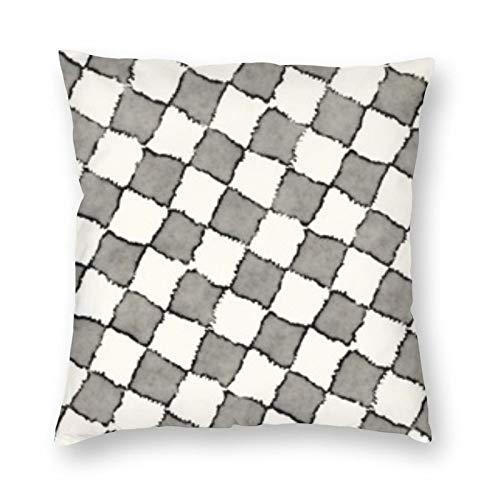 BONRI Funda de almohada cuadrada de 60,6 x 60,6 cm, suave y fácil de cuidar, ligera, antiarrugas, antiincrustante, cremallera invisible