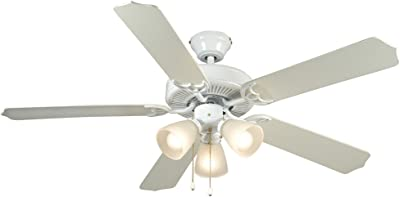 Hardware House 41-5919 Palladium 52-Inch Triple Mount Ceiling Fan Light, White or Washed Pine