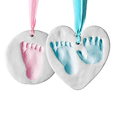 Bubzi Co Baby Handprint and Footprint Kit Ornament for Baby Girl Gifts & Baby Boy Gifts, Unique Baby Shower Gifts, Personalized Baby Gifts for Baby Registry, Keepsake Box Nursery Decor from Bubzi Co