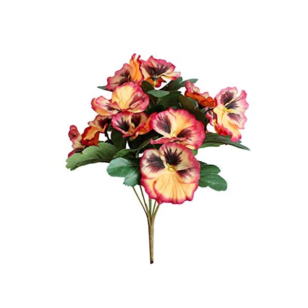 angel3292 Artificial Flower Pansy Garden DIY Stage Party Home Wedding Craft Decoration