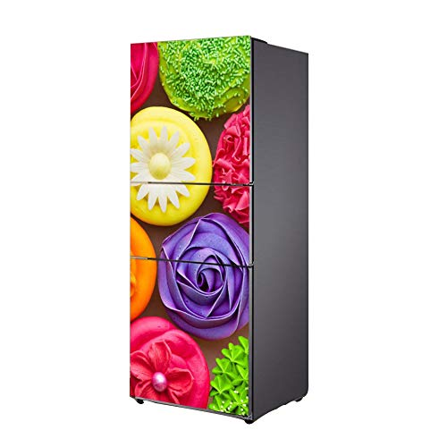 WW Decoración Envolver Refrigerador Pegatina Vinilo Cocina Casa Pared Calcomanía Gastrónomo Escena BX048,60 * 150Cm