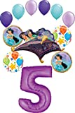 Aladdin Party Supplies Princess Jasmine 5th Birthday Balloon Bouquet Decorations