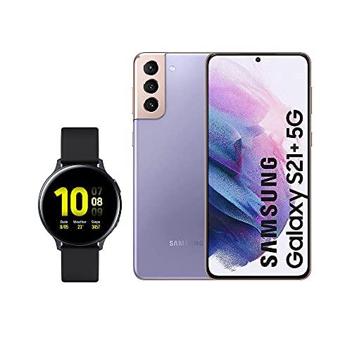SAMSUNG Smartphone S21+ 5G 128 GB Violeta con Watch Active 2