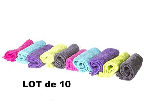 Lot de 10 chiffons microfibre - Multi-usages & Ultra-absorbants