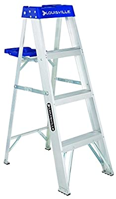 Louisville Ladder AS2106 250-Pound Duty Rating Aluminum Stepladder, 6-Feet from Louisville Ladder