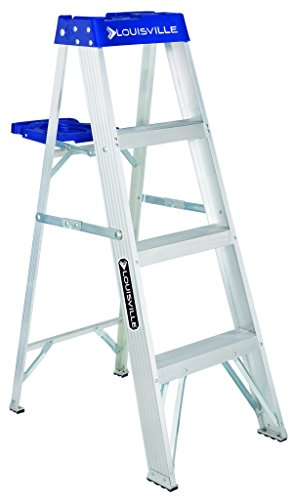 Louisville Ladder 4-Foot Aluminum Step Ladder, 250-Pound Capacity, AS2104