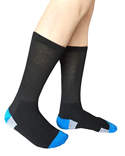 buy  Diabetic Non Binding Circulatory Black Crew Socks ... Diabetes Care
