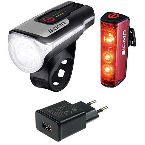 SIGMA SPORT Aura 80 USB/Blaze Beleuchtungsset (schwarz mit Netzteil)