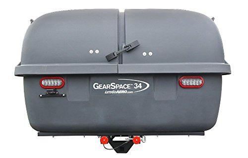 Let's Go Aero GearSpace Slideout Hitch Cargo Carrier -Dark Gray