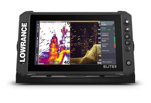 Lowrance - Elite FS 9 (sistema de pesca), buscador de peces con transductor Active Imaging 3 en 1 y cartas C-MAP Contour+ precargadas