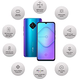 Vivo S1 Pro (Jazzy Blue, 8GB RAM, 128GB Storage) with No Cost EMI/Additional Exchange Offers