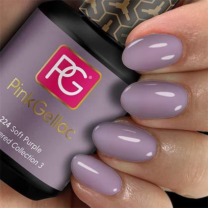 Rosa gellac UV esmalte de uñas 224Soft Purple. Profesional Gel Esmalte de Uñas Shellac para al menos 14días perfecto brillante clavos