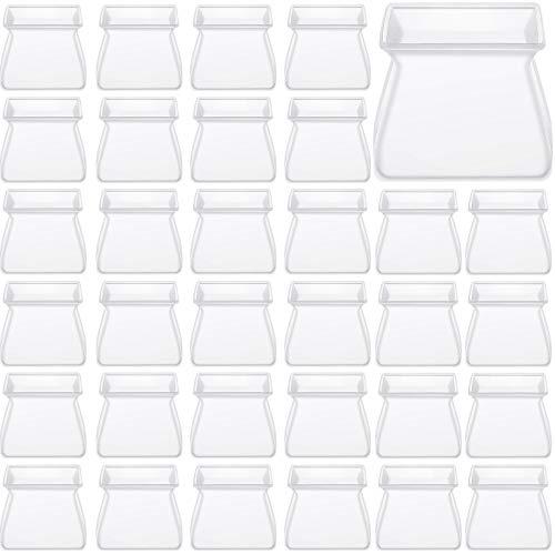 60 Pezzi Mobili Copertura di Protezione in Silicone Coprigambe per Sedia Protettori di Gamba della Sedia Proteggi Piedi per Tavolo Coprigambe Quadrati Coprigambe da Tavola per Casa Classe Ufficio