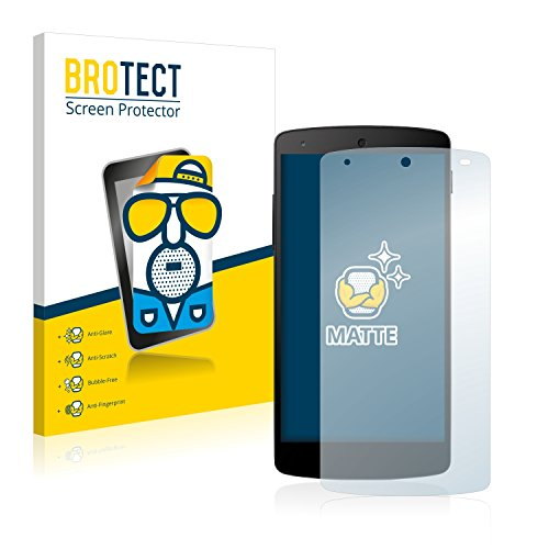 BROTECT 2X Entspiegelungs-Schutzfolie kompatibel mit LG Electronics Nexus 5 Bildschirmschutz-Folie Matt, Anti-Reflex, Anti-Fingerprint
