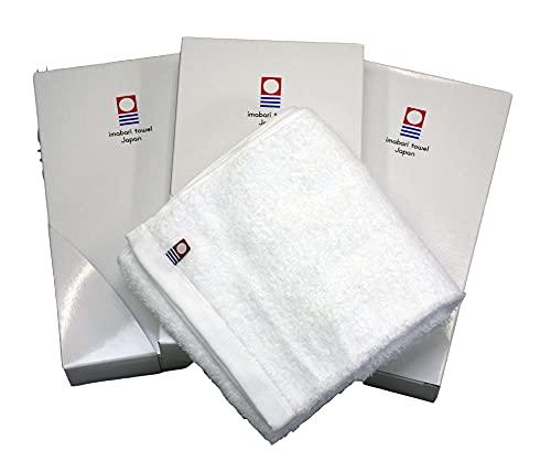 今治タオルブランド認定 OSKシリーズ ギフトセット コットン100% 無地 ホワイト (ギフトセット フェイスタオル1枚入3箱セット)