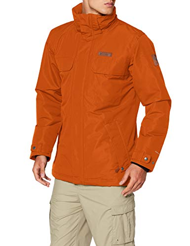 Columbia Homme Veste Imperméable, Rugged Path Jacket, Polyester, Orange (Bright Copper), Taille S, 1737572