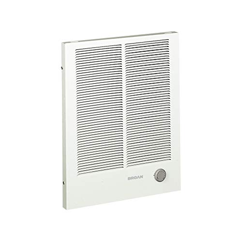 Broan-NuTone, White 198 High Capacity Wall Heater, Painted Grille, 4000/2000 Watt 240 VAC, 2000/4000