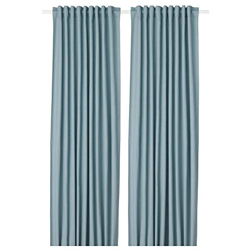 MBI TIBAST Vorhänge 1 Paar blau Länge 250 cm Breite 145 cm Gewicht 2,23 kg Fläche 3,63 m2