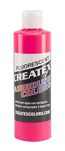 Createx Colors Paint for Airbrush, 8 oz, Fluorescent Hot Pink by Createx Colors