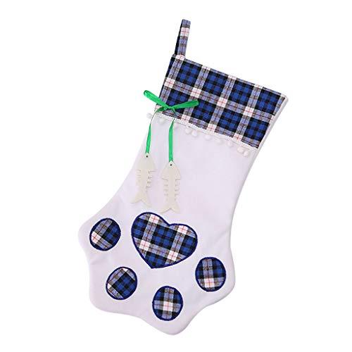Deloito Frohe Weihnachten Socken Dekoration Niedlicher Cartoon Weihnachtsmann Geschenk für Kinder Mädchen Bonbontüte Weihnachtsbaum Dekor (A1,Freie Größe)