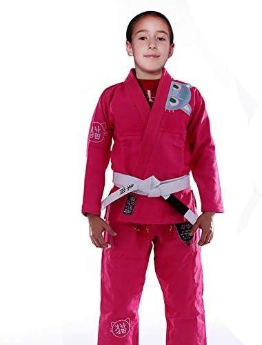 FLUORY Kids Brazilian Jiu Jitsu Suit Childrens BJJ Gi Kimonos Women BJJ Uniform BJJ09FEN M2 product image