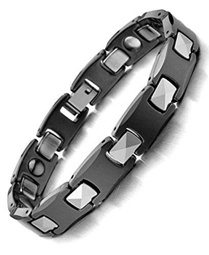 4 Aimant 3000g Homme Femme topt mag Nouveau Bracelet cuivre Noir Titane magnetique 2 Aimant 5000g