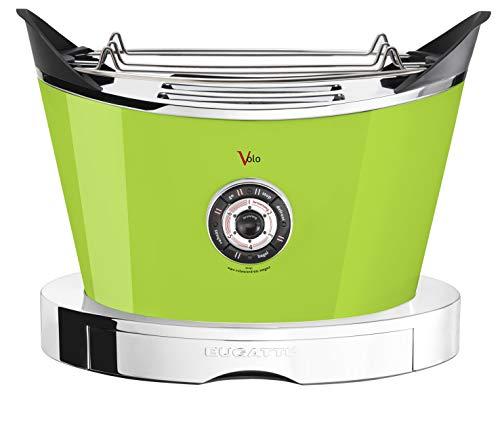 BUGATTI, Volo, elektrischer Toaster, 4 Funktionen, 6 Toaststufen, innovatives Design, Edelstahlgehäuse, Leistung 930 W, Zangen sind nicht im Lieferumfang enthalten (Orange)