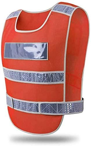 Algemene veiligheid Vesten High Visibility maat verstelbaar tailleomvang for mannen en vrouwen Veiligheid Reflecterende Gear Hi-Visibility Heavy Duty Werkkleding XMJ (Color : Neon Orange)