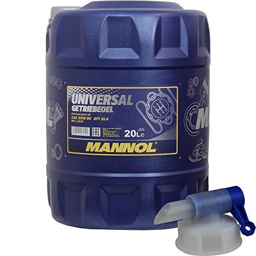 20 Liter MANNOL Universal Getriebeöl 80W-90 API GL 4 MN8107-20 inkl. Auslaufhahn