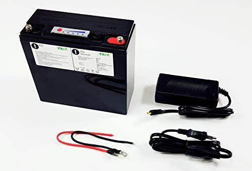 TZIPower LiFePo4 lithium-accu, 12 V, 10 Ah, voor motorfiets, boot, caravan, camper, zonne-accu