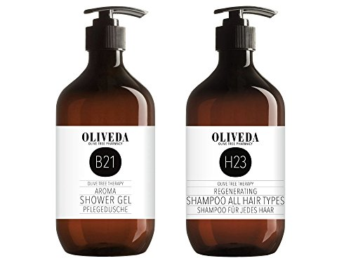 Oliveda B21 Aroma Pflegedusche 250ml + H23 Shampoo für jedes Haar 250ml