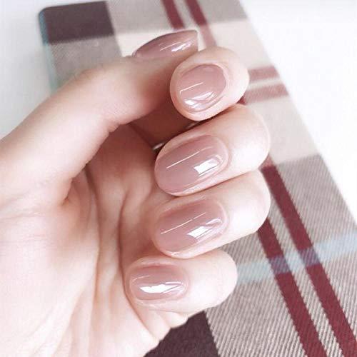 TJJF Ovale 24 Pcs En Plastique Rose Doux Faux Ongles Transparent En Plastique Rose Doux Faux Ongles Nail Faux Ongles Designs Doigt Nail Art Conseils