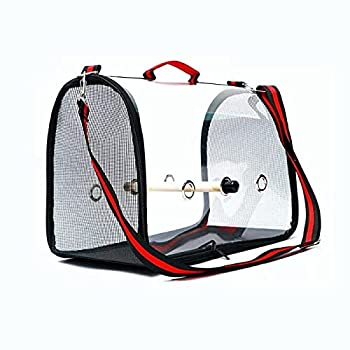 skrors Cage de transport pour animaux de compagnie - Sac à dos respirant avec perchoir - Rouge