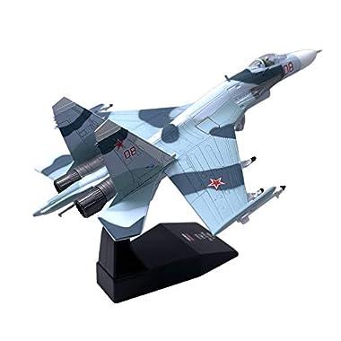 1:100 Sukhoi Su-27 Fighter Metal Aircraft Model...
